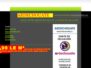 Ardechouate.sitew.fr - Isolation naturelle à base de ouate de cellulose