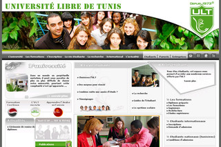 Ult-tunisie.com - Université privée en Tunisie : ULT – Université Libre de Tunis