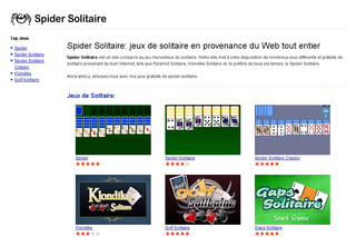 Jeux Spider Solitaire - Spider-solitaire.fr