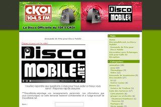 Disco Mobile pour Partys - Discomobile.net