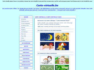 Carte de voeux virtuelle sur carte-virtuelle.be