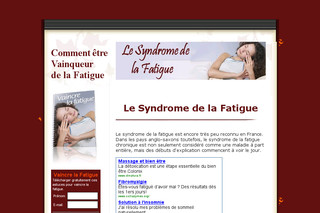 Le Syndrome de la Fatigue - Syndrome-fatigue.com