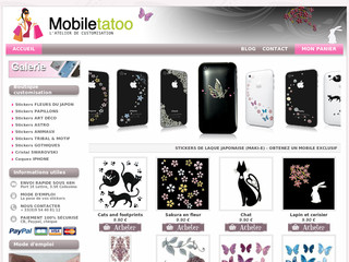 Mobiletatoo.fr - Stickers en laque japonaise pour mobile