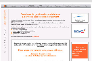 Kioskemploi.com - Solution de gestion de candidatures
