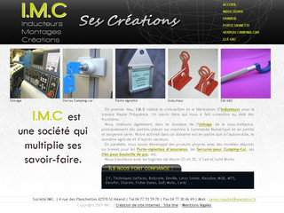 IMC - Inducteurs, usinage, support assurance, verrou camping car, clé gaz - Imc-creations.fr