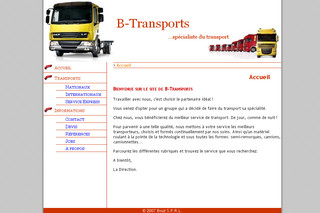 Transport de colis sur b-transports.be