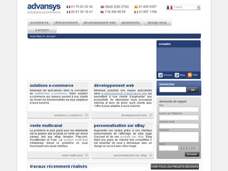 Advansys-ecommerce.fr - Spécialistes e-commerce | design e-commerce | solutions e-commerce