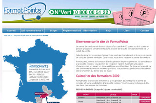 Formatpoints - Stage points permis | Stage-points-permis.net
