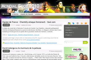 Mondial Foot 2010 - Le blog de la coupe du monde 2010 - Mondial-foot-2010.com