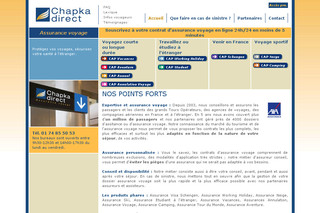 Chapka Assurances Voyage - Chapkadirect.fr