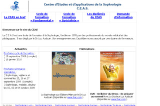 Sophrologie-ceas.org : Centre d'Etudes et d'Applications de la Sophrologie