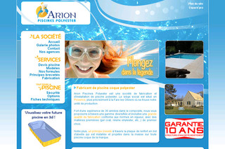 Piscine à coque - Arion-piscines-polyester.com