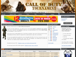 Call of duty tournament - Organisation de matchs et de tournois - Cod-tournament.fr