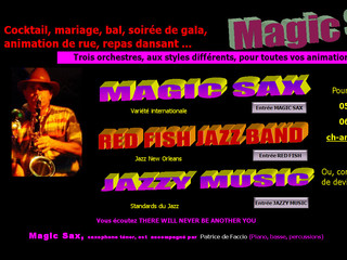 Magic Sax - Orchestres de variété et de jazz New Orleans - Magicsax.fr
