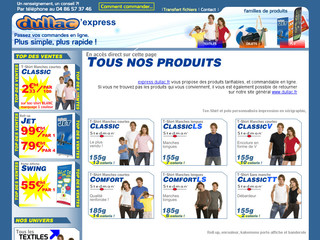 Dullac express, vos tshirts, roll-up, affiche quelques clics - Express.dullac.fr