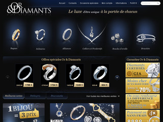 Or & Diamants, Ventes de Bijoux Création en ligne - Or-et-diamants.com