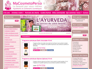 MaCosmetoPerso - Réaliser ses propres produits cosmétiques - Macosmetoperso.com