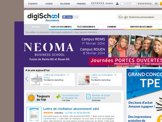 Doc étudiant : partage de documents - Documents.digischool.fr