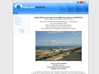 France Israel Immobilier Odelia Malka a Ashkelon
