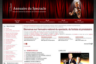 Annuaire national du spectacle - Annuaire-spectacle.org