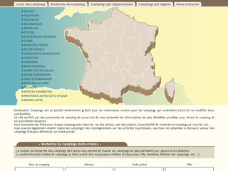 Guide des Campings de France par régions et départements - Destination-campings.fr