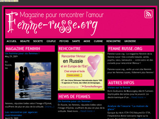 Femme Russe Magazine - Rencontre - Femme-russe.org