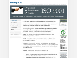 ISO 9001 : Conseil, formations, audits, certification - Strategik.fr
