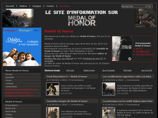 Medal of Honor sur Moh-france.fr
