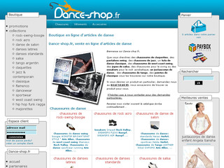 Boutique en ligne de vêtements, chaussures et accessoires de danse