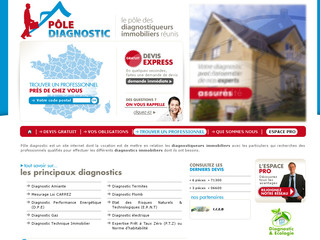 Diagnostic immobilier en France : Pôle Diagnostic