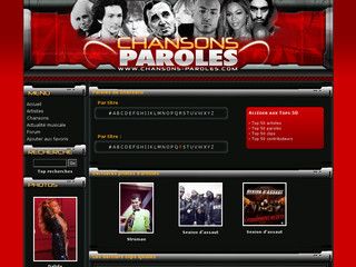 Paroles de chansons avec Chansons-paroles.com