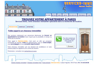 Services-Immo, chasseur immobilier location - Services-immo.net