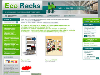Rayonnages ecoracks - Rayonnage occasion, industriel, tubulaire, bureaux