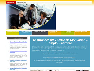 CV et lettre de motivation assurance - Cv-assurance.com