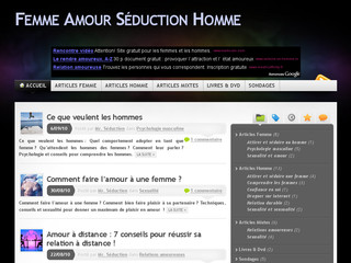 Le blog Femme-amour-seduction-homme.fr