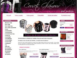 Corsets sexy glamour sur Corsets-glamour.fr