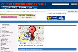 Annuaire Arkitop referencement gratuit