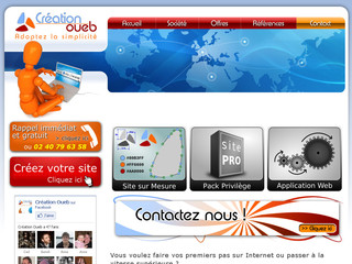 Site internet pro à Chateaubriant - Creation-oueb.fr