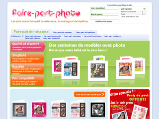 Faire-part photo avec Faire-part-photo.com