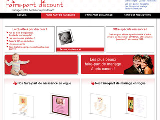 Faire part discount - Fairepartdiscount.com