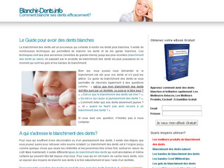 Blanchiment des Dents avec Blanchir-dents.info