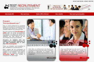 Test-Recrutement.com : Tests de recrutement, tests d'orientation, tests psychotechniques et plus.