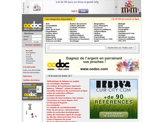 Oodoc.com - Etudes marketing, fiches, documents