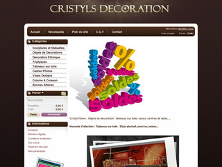 Décorations design et discount - Cristyls-decoration.com