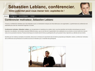 Conférencier Motivateur, Conférencier en Motivation, Sébastien Leblanc - Conferenciermarketing.com