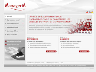 Cabinet recrutement agro - Manageria.fr