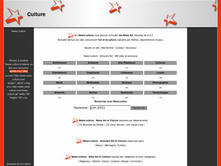 News-culture.com - Sites en rapport avec l'art et la culture