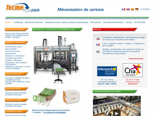 Mécanisation de cartons, machines d'emballages - Tecma-pack.fr