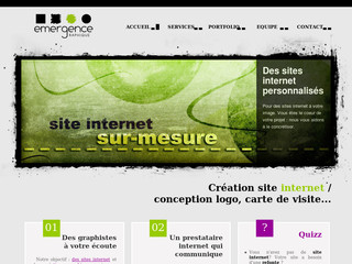 Emergence Graphique, création de sites Internet - Emergence-graphique.fr