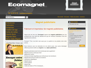 Import de magnets et cartes PVC - Ecomagnet.fr